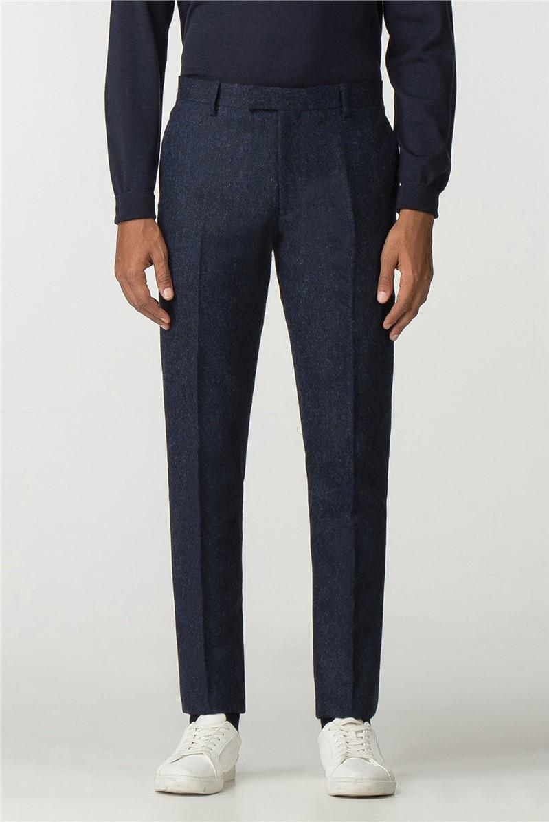 Ben Sherman Main Line British Black Blue Tweed Camden Trouser