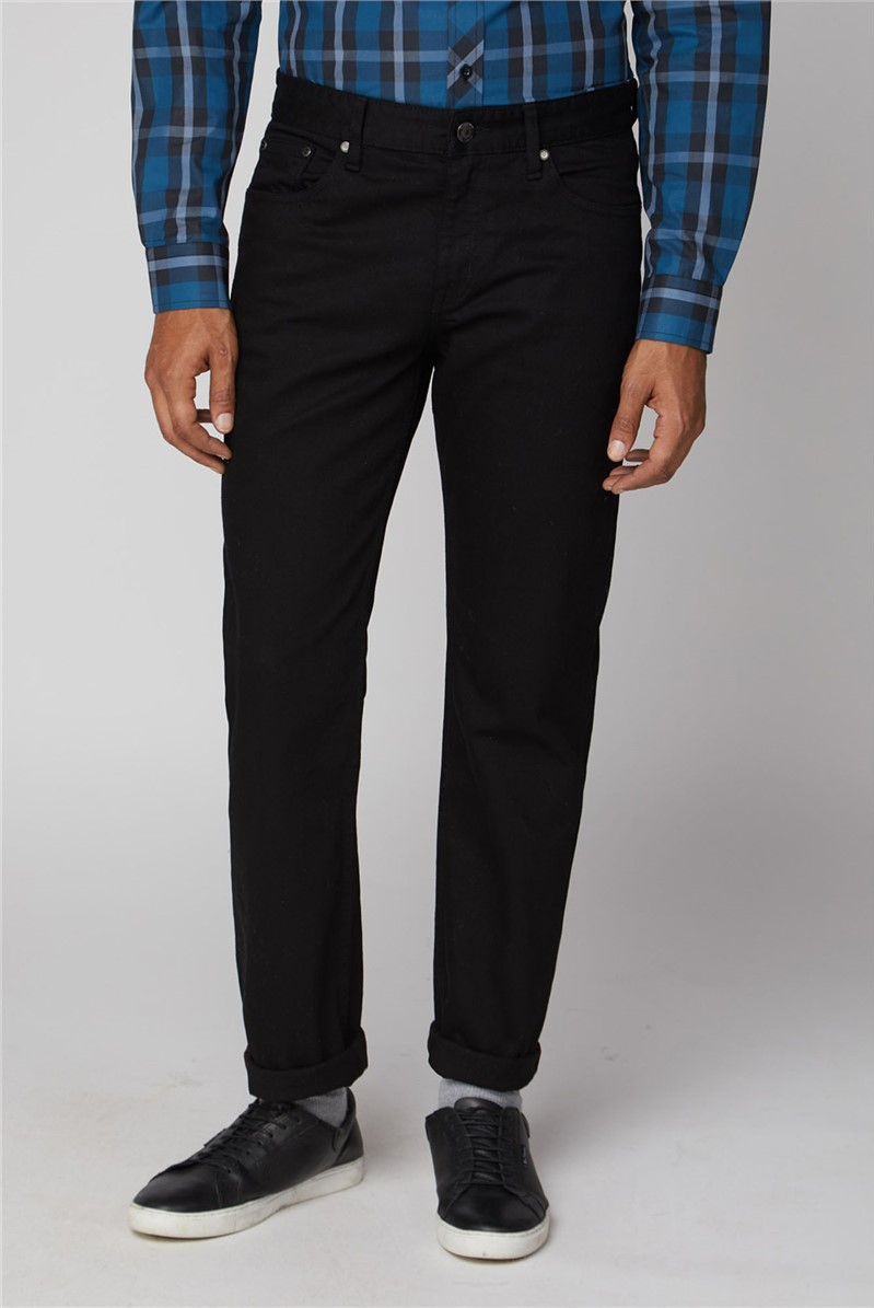 Straight Clean Black Jean