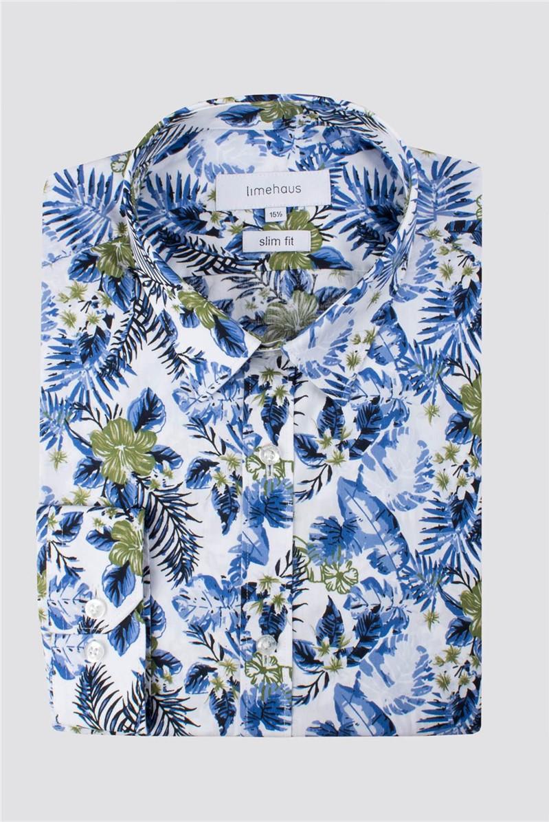 White Hawaiian Print Shirt