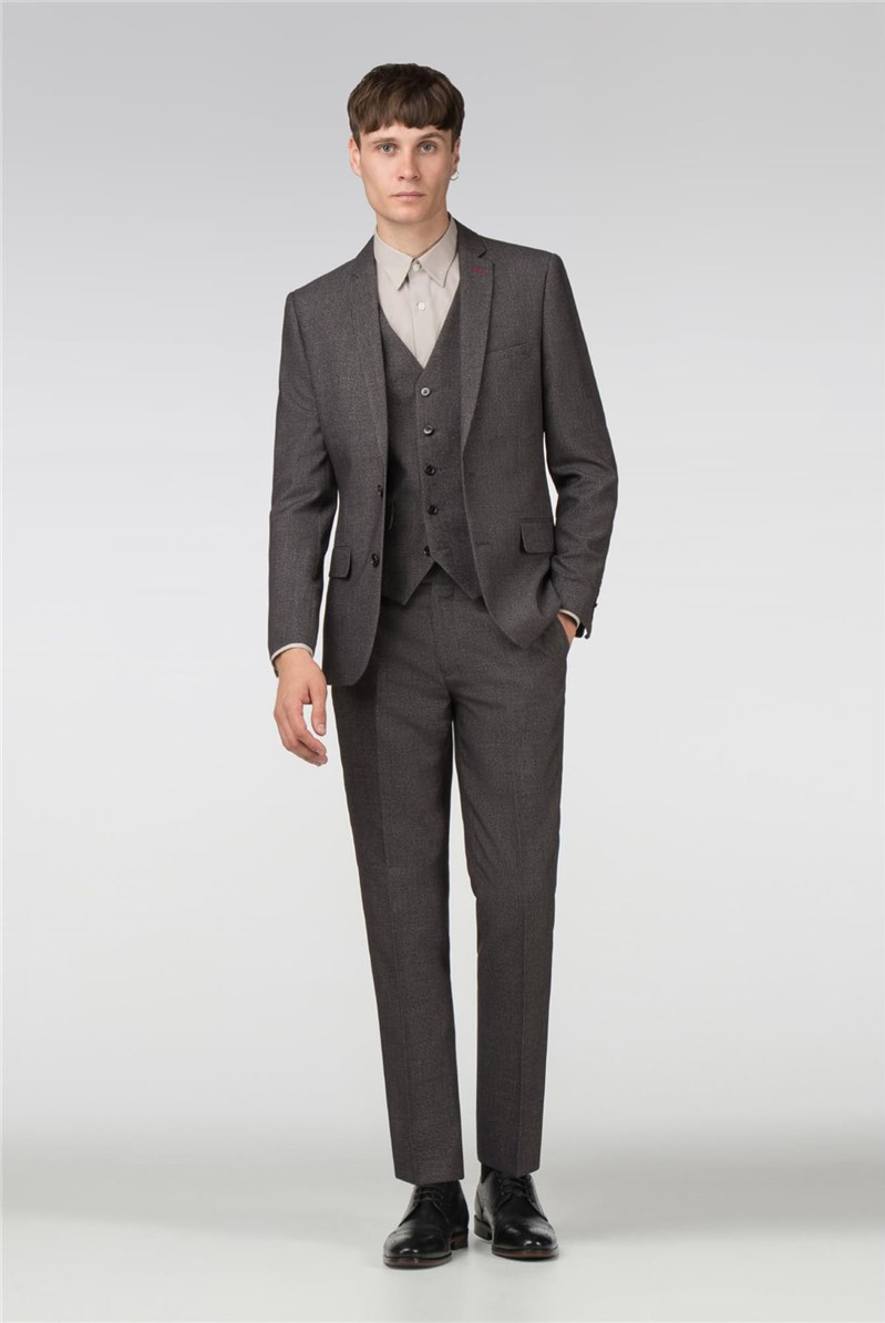 Grey Texture Slim Fit Suit