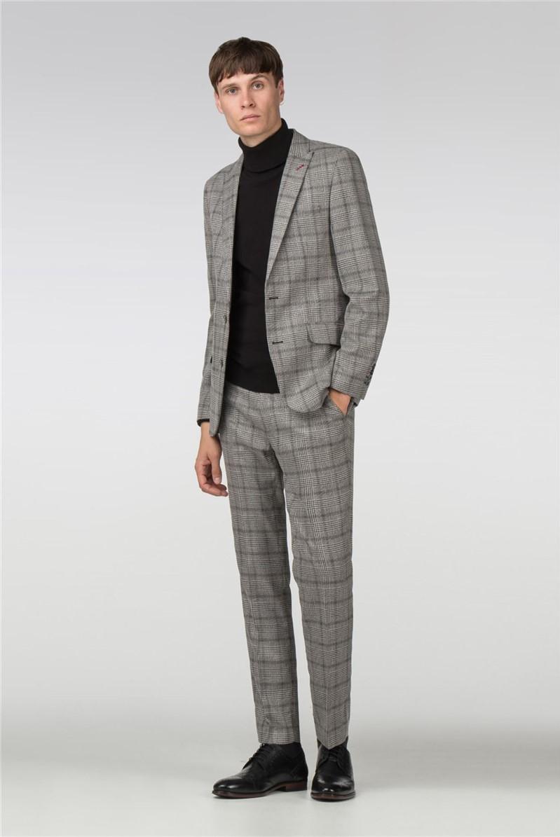 Grey Check Slim Fit Suit