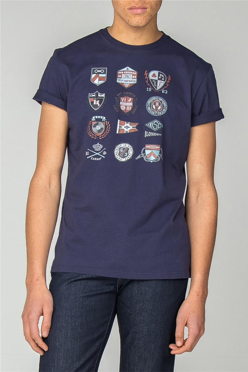 Navy Ivy Badges T-Shirt