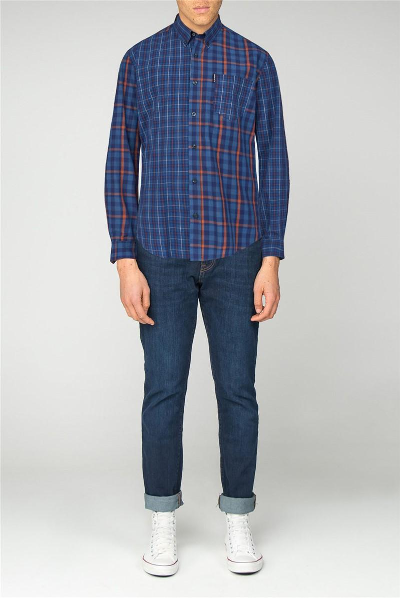 Long Sleeve Mixed Check Shirt
