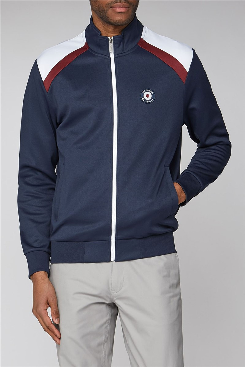 Navy Tricot Track Top
