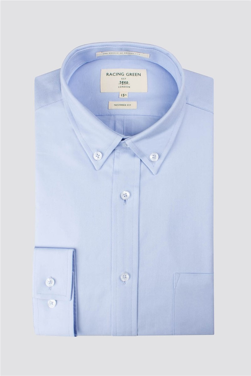 Racing Green Blue Oxford Tailored Shirt
