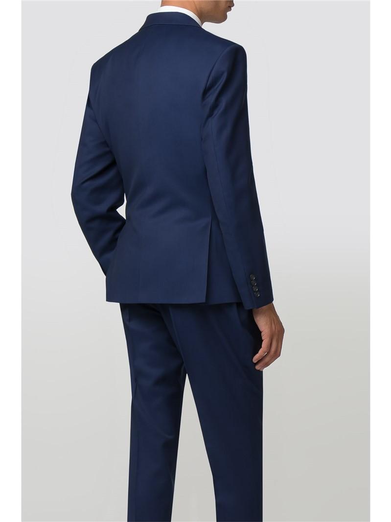Blue Texture Slim Fit Trouser