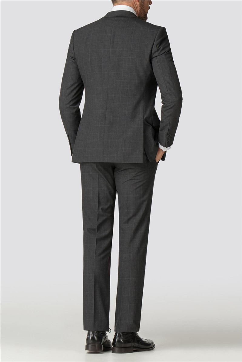 Charcoal Check Tailored Fit Jacket