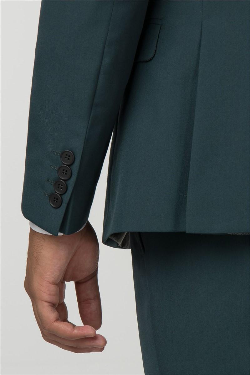 Green Panama Slim Fit Trousers