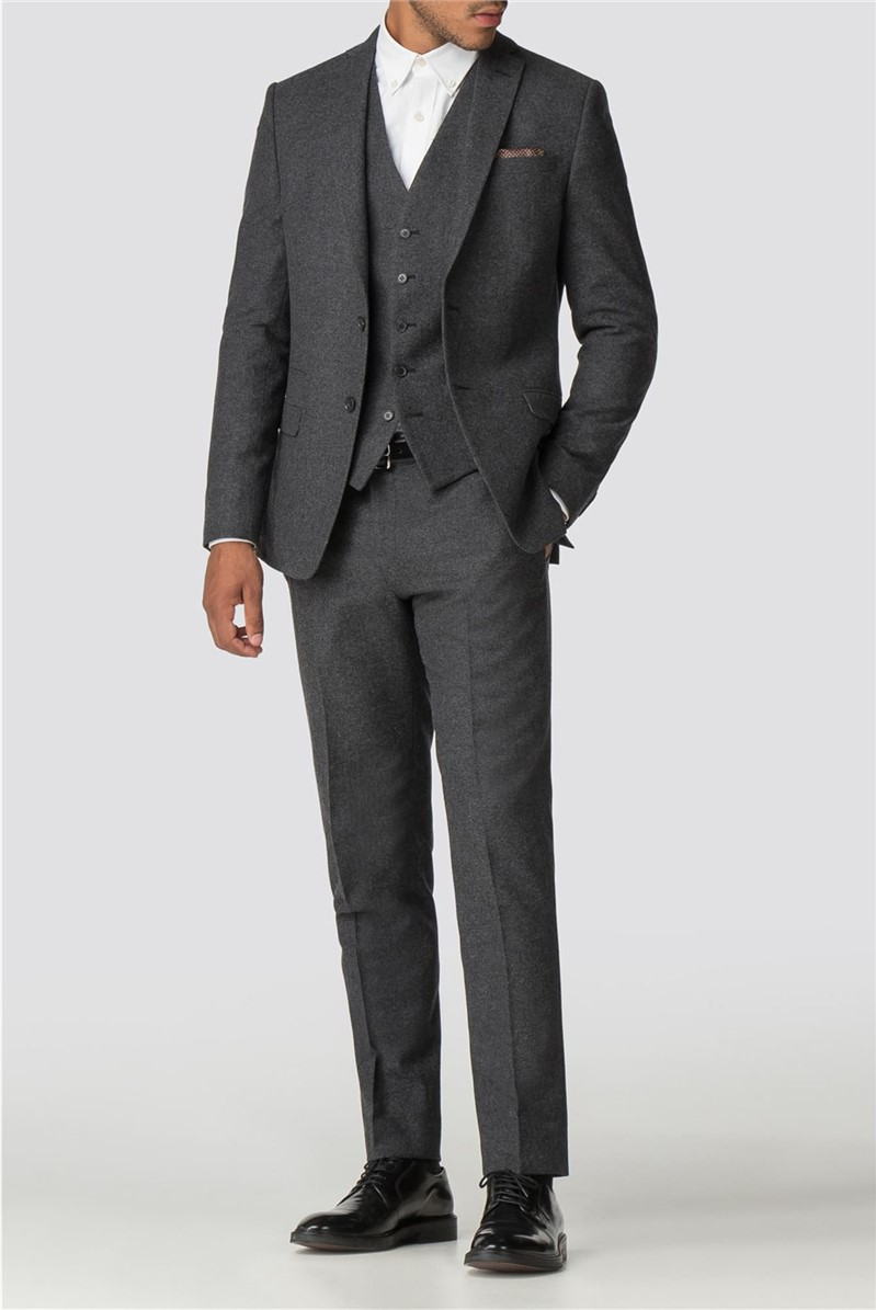 Charcoal Donegal Slim Fit Suit