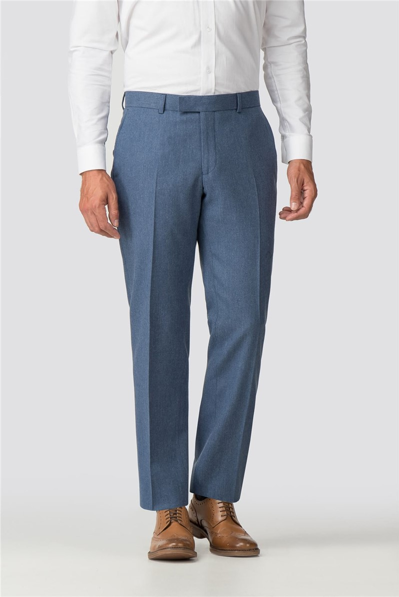 Airforce Blue Donegal Tailored Fit Trouser