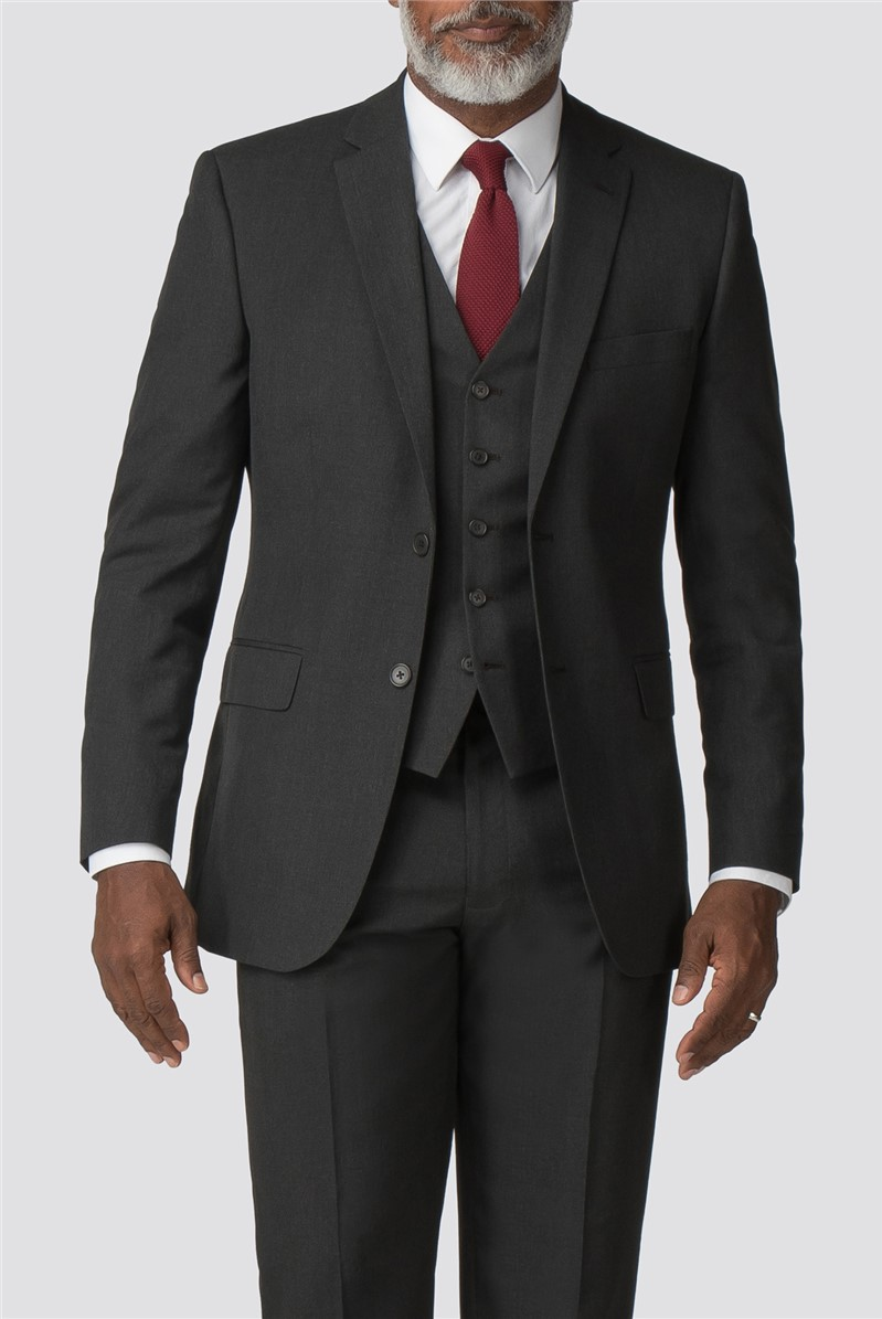 Charcoal Regular Fit Trousers