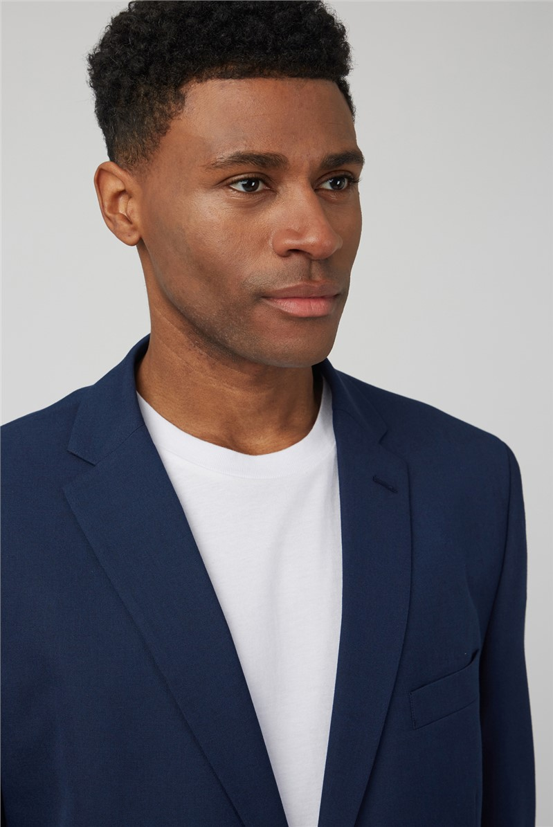 Bright Blue Regular Fit Trousers
