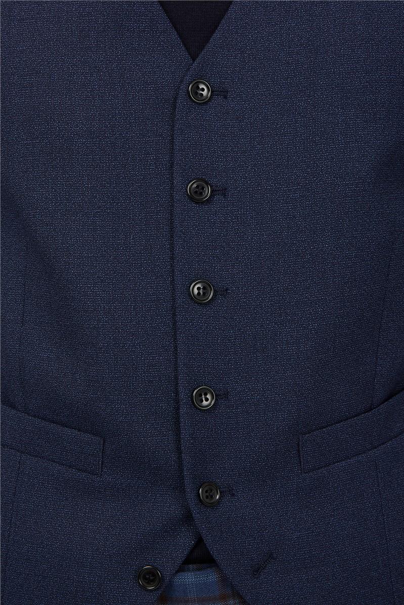 Bright Blue Texture Soho Waistcoat