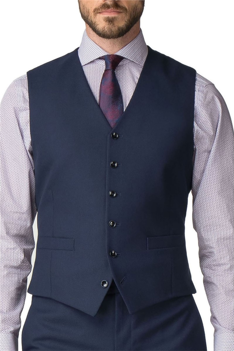 Stvdio Navy Texture Tailored Fit Suit