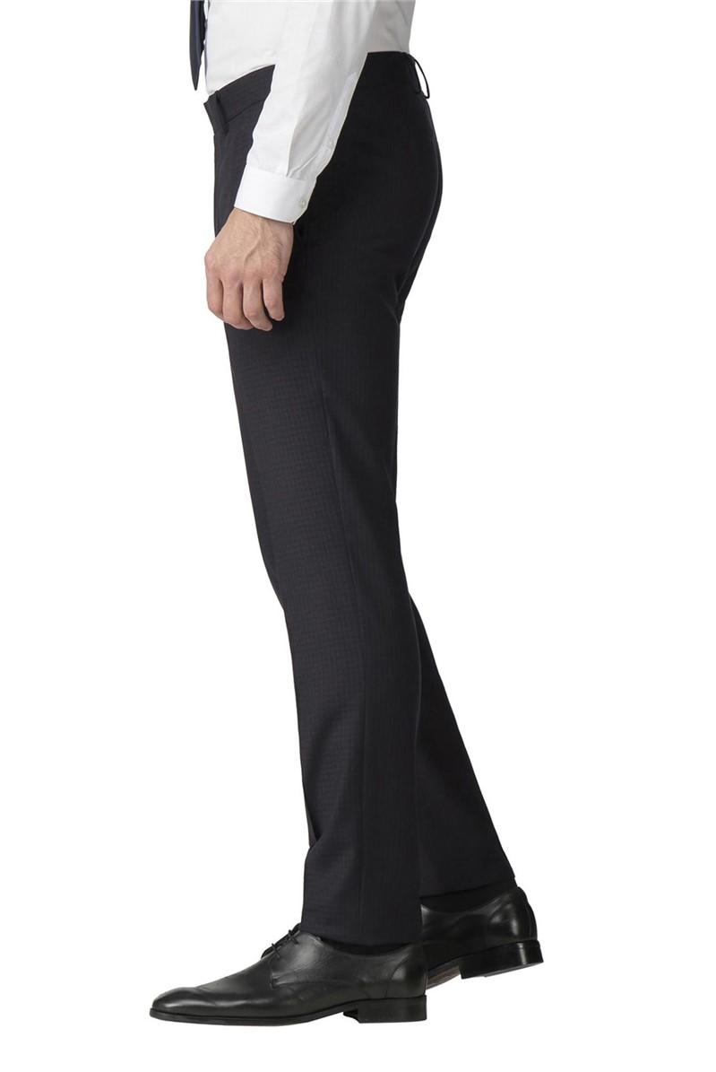 Studio Mulberry Gingham Super Slim Fit Brit Trousers
