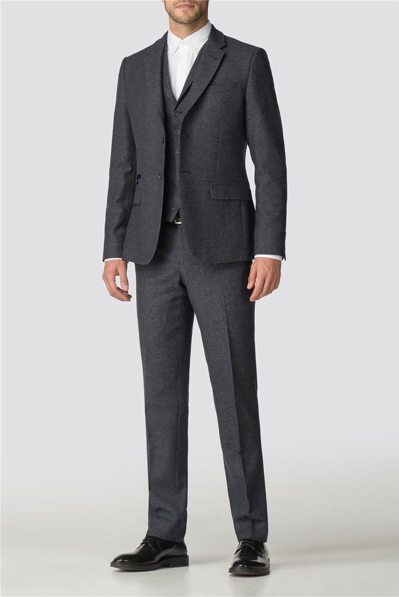 Charcoal Semi Plain Tailored Fit Jacket