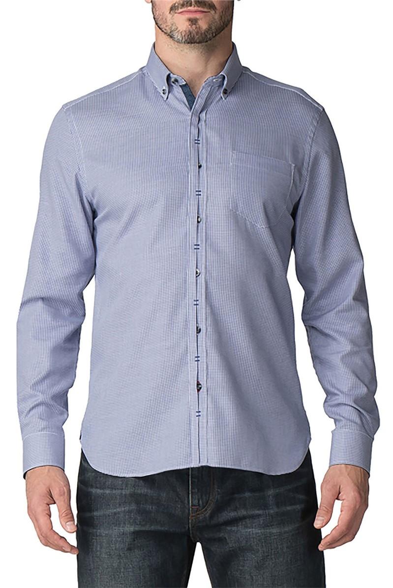 Casual Navy Dobby Shirt