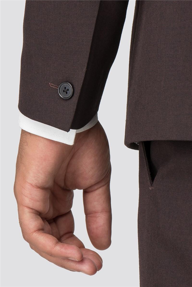 Branded Burgundy Slim Fit Suit