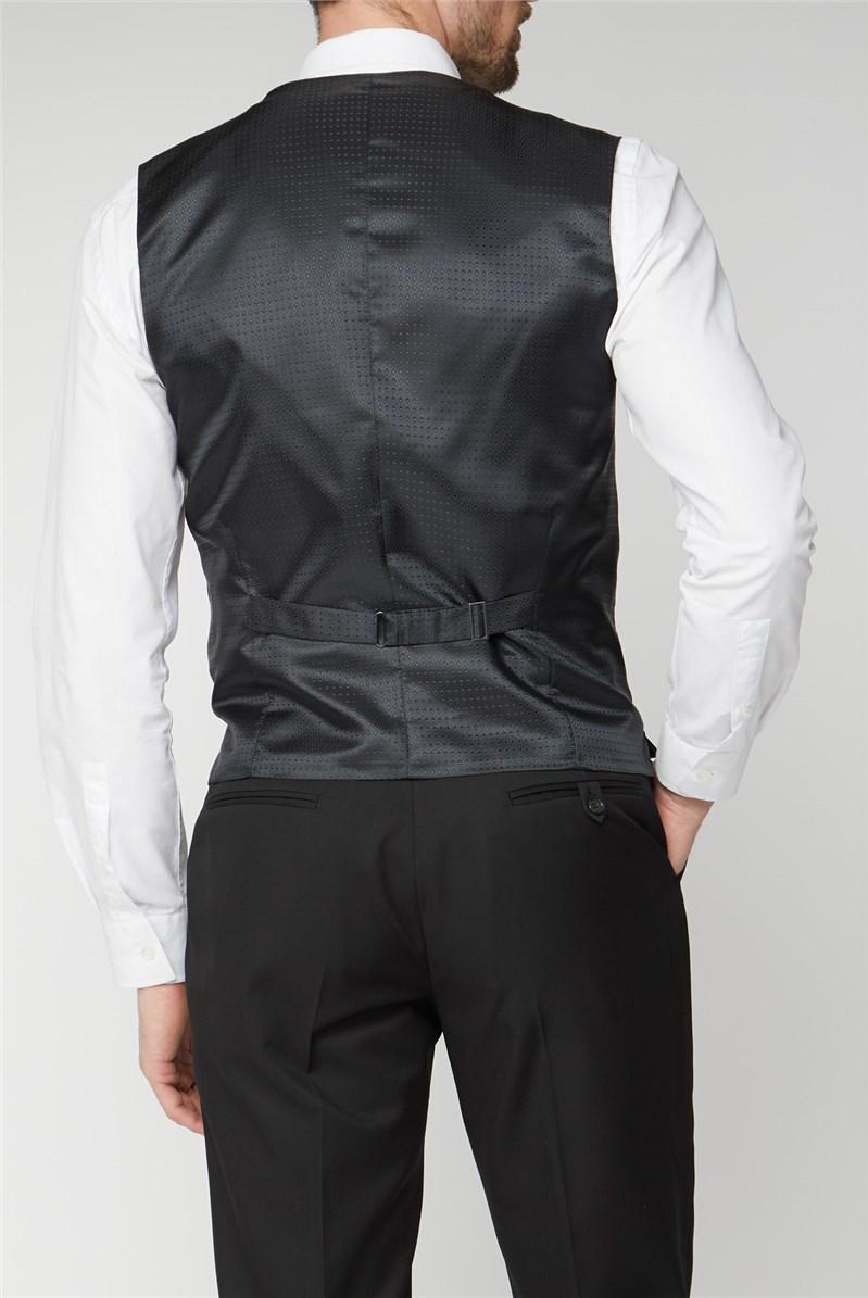 Black Twill Regular Fit Performance Waistcoat