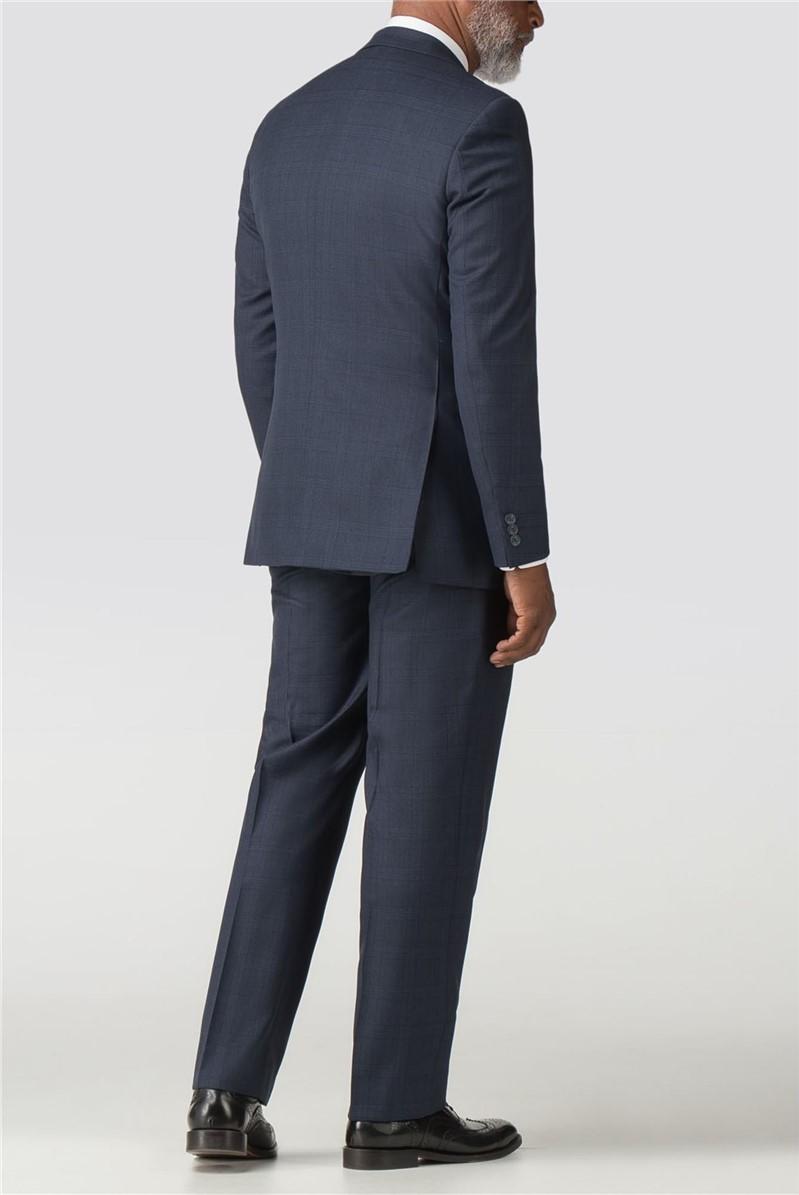 Navy Check Regular Fit Trouser