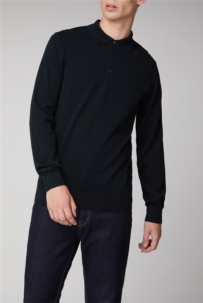 Core Long Sleeve Knitted Polo