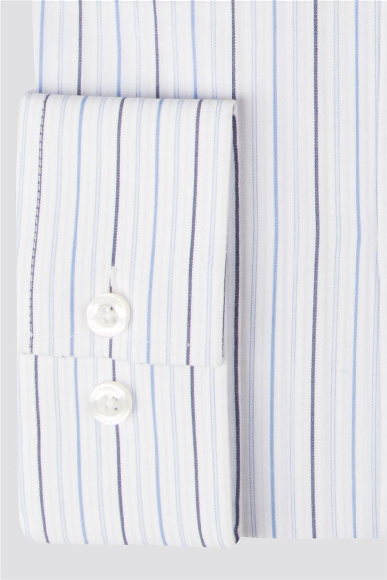 Pale Blue Stripe Regular Fit Shirt