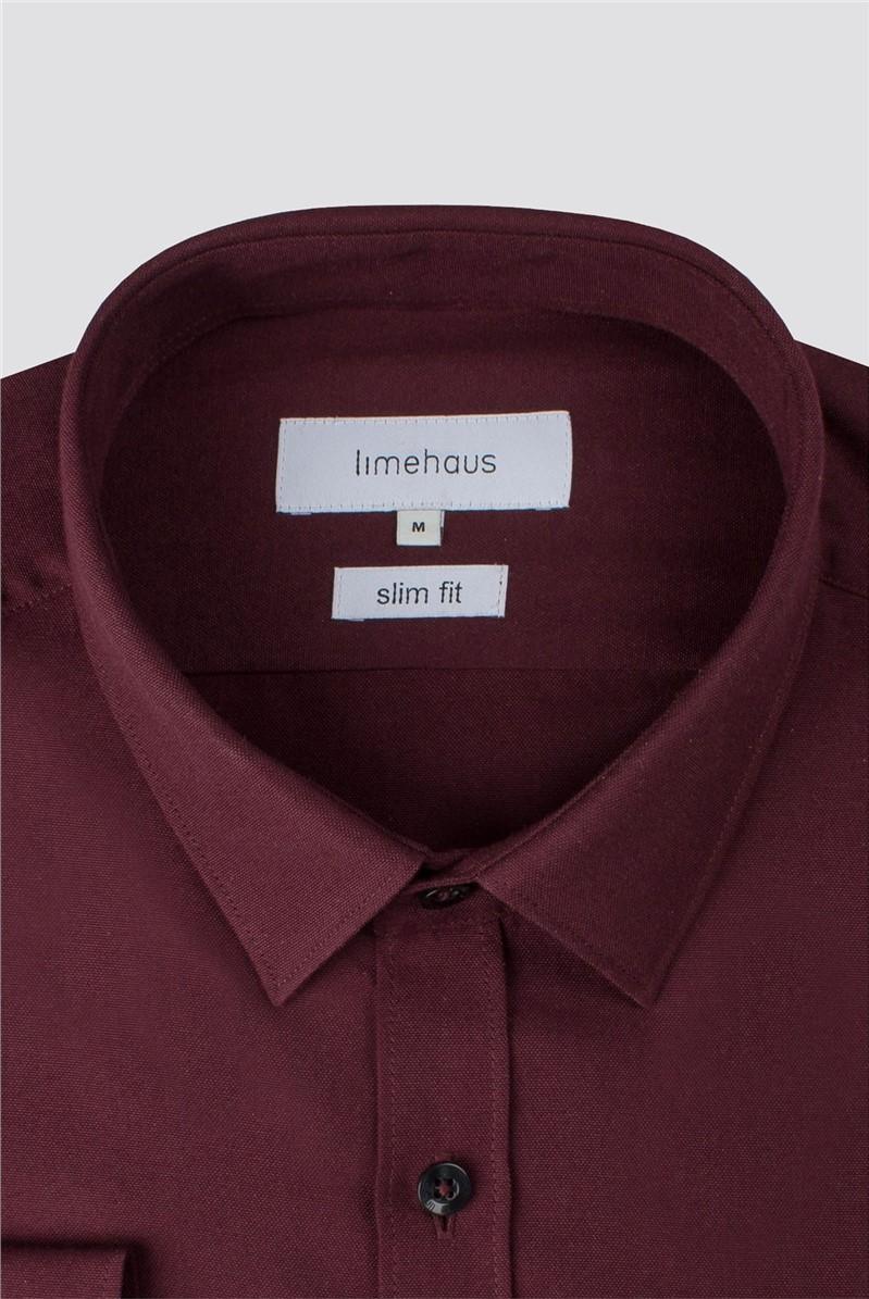 Wine Plain Weave Shirt