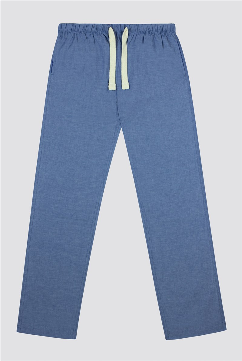 Plain Cotton Chambray Loungewear Pant