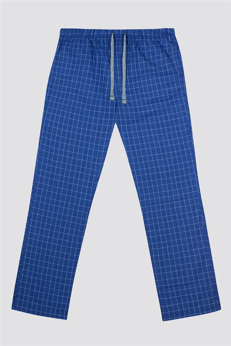 SMU Racing Green New Cas Prince of Wales Checked Cotton Lounge Pant