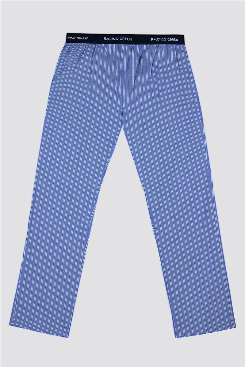 Striped Cotton Poplin Loungewear Pant