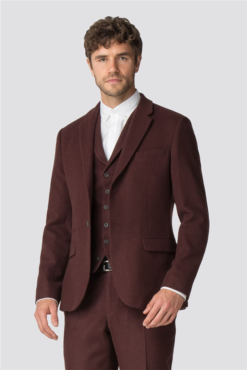 Rust Flannel Tailored Fit Jacket