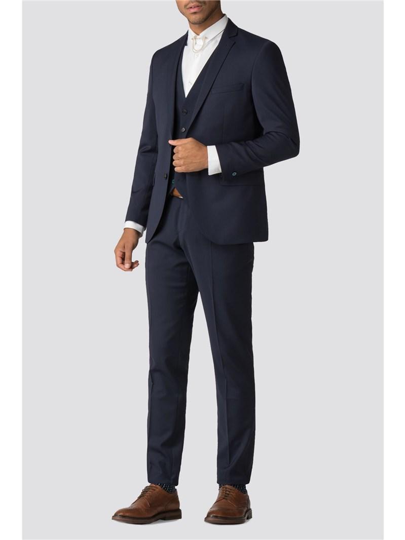 Farenheit Navy Wool Blend Suit