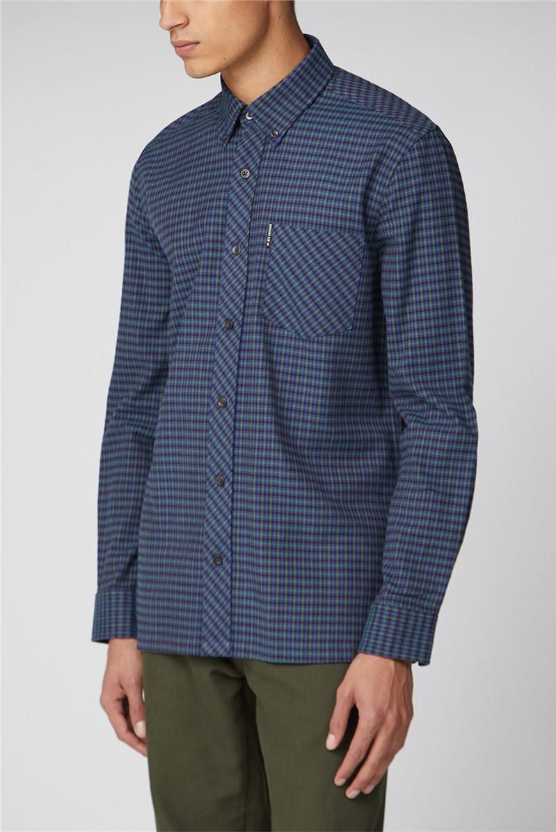 Long Sleeve Brushed Gingham Shirt