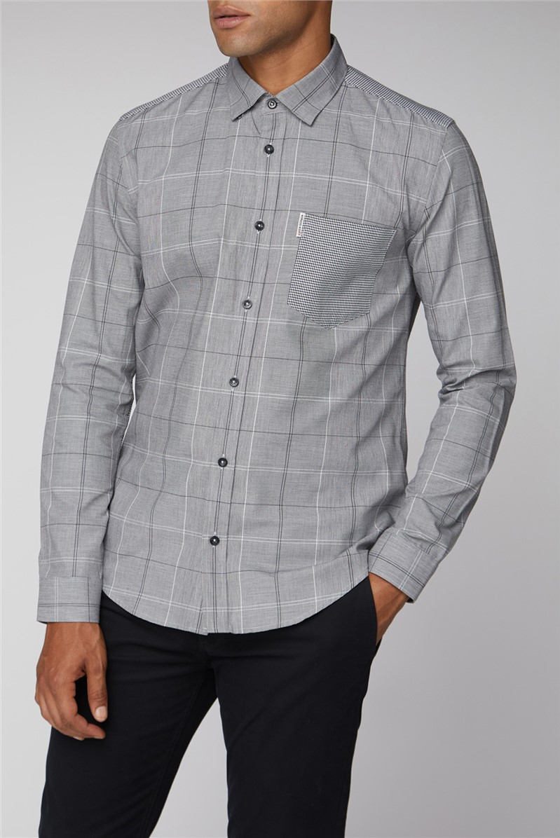 Long Sleeve Mixed Check Shirt