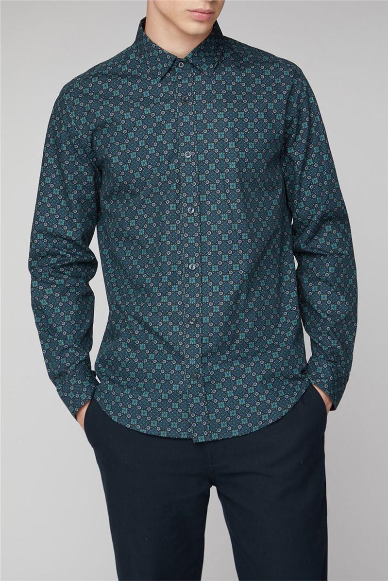 Forest Foulard Print Shirt
