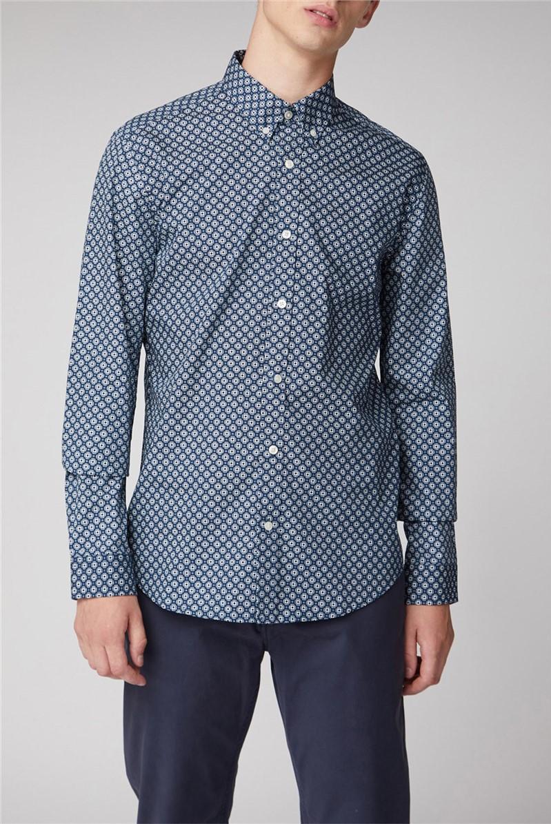 Long Sleeve Retro Geo Shirt