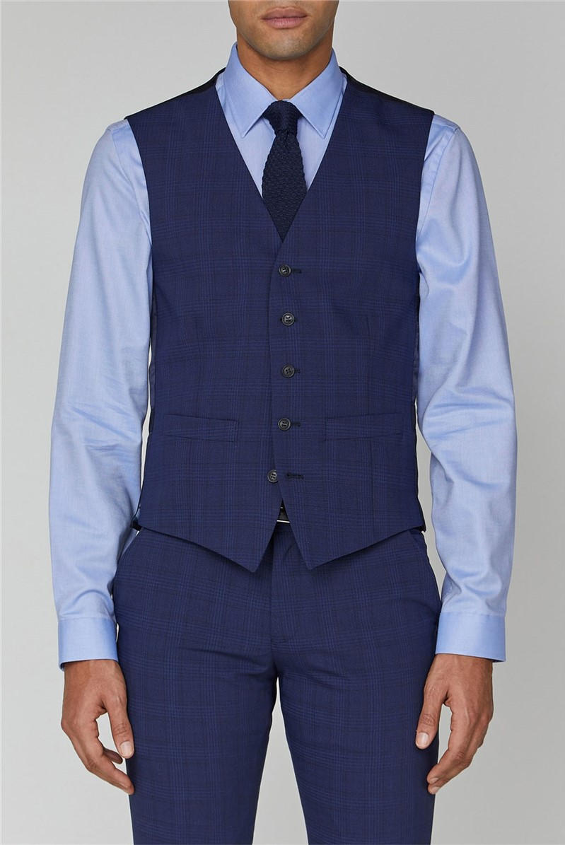 Sapphire Check Stretch Camden Suit