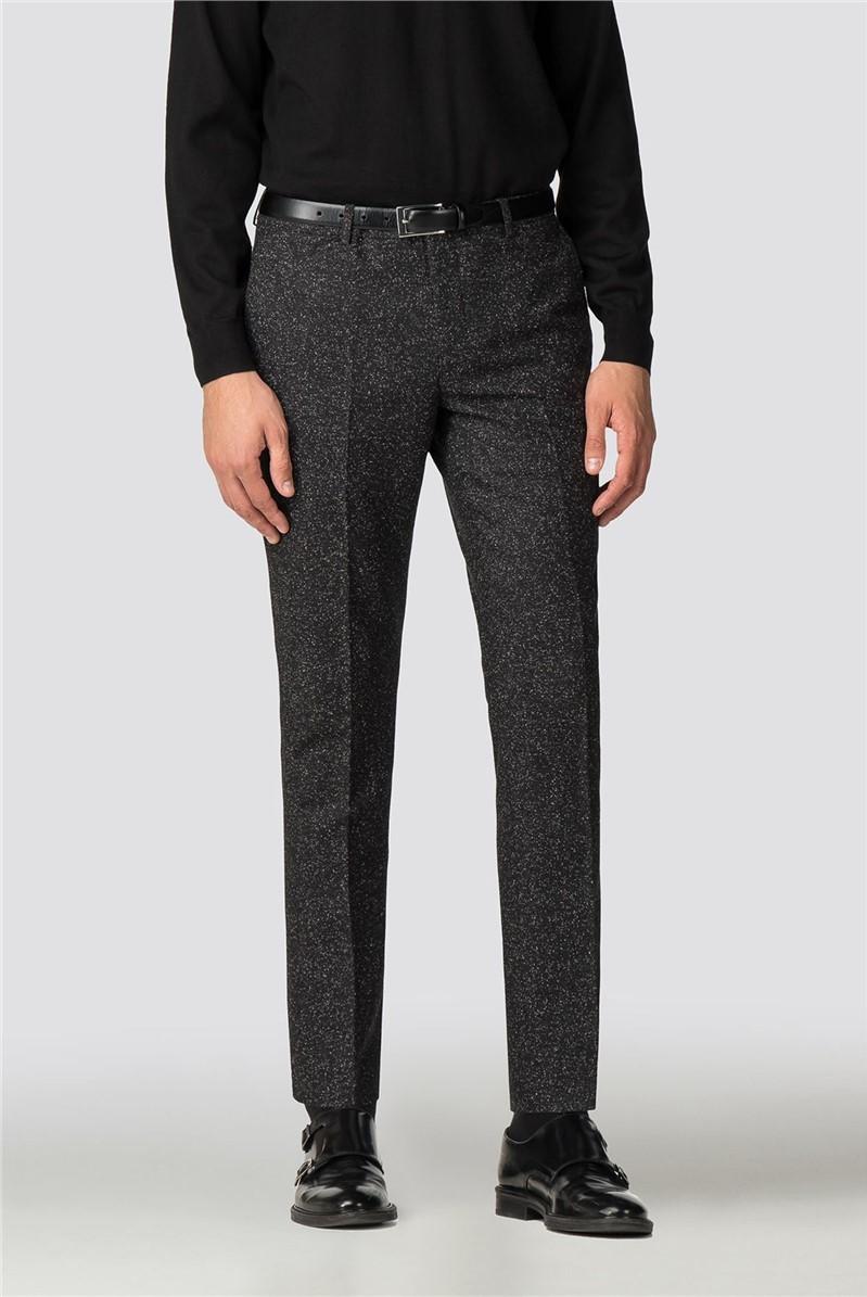 Turku Skinny Fit Black Speckle Trouser
