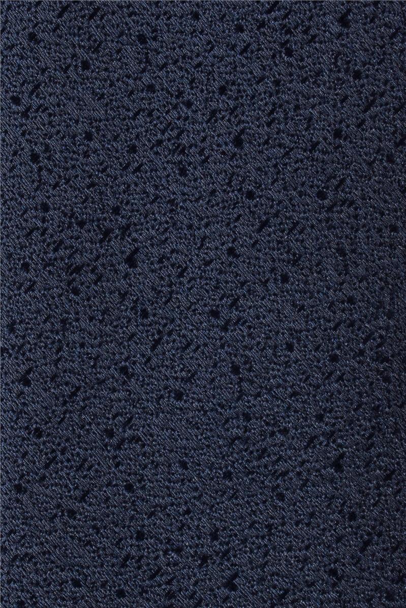 Navy Scratch Tie