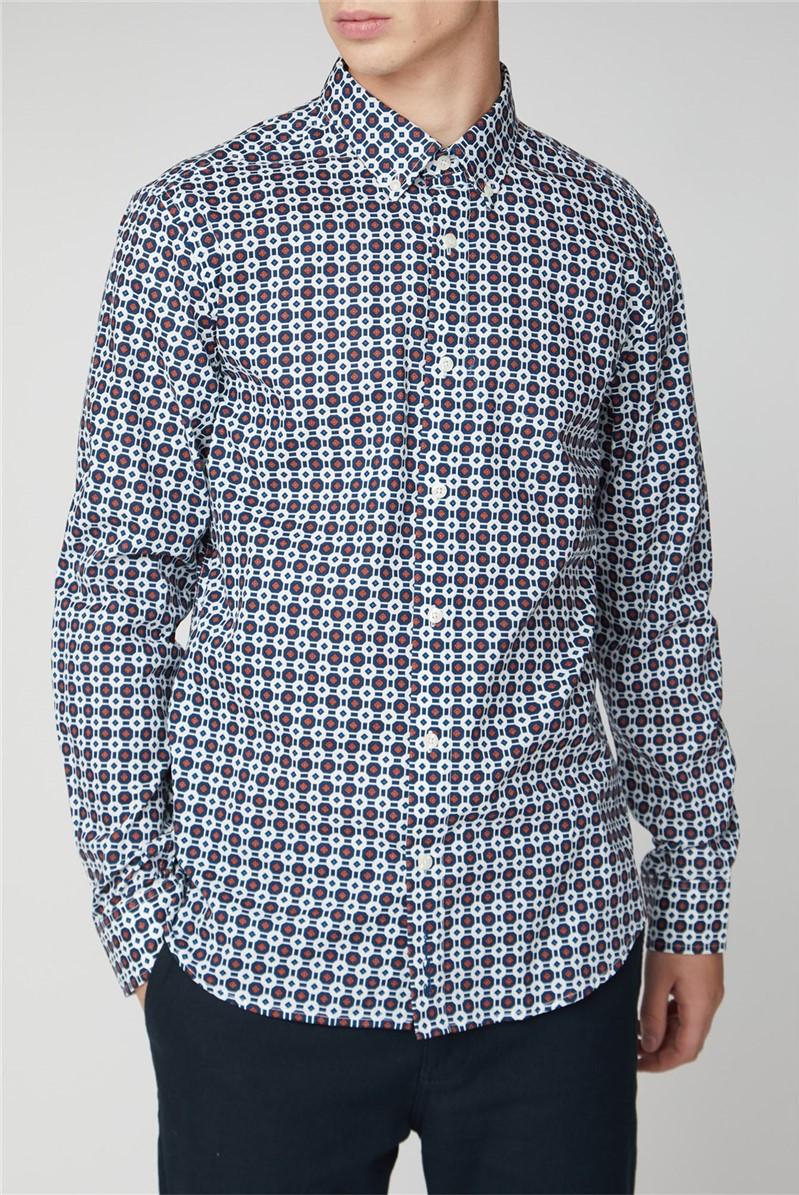 Blue Retro Geo Shirt