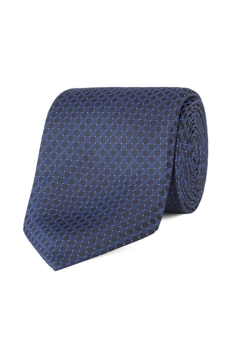 Navy Micro Deco Tie