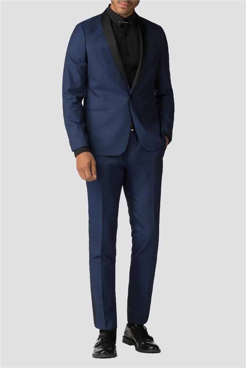 Koblenz Blue Jacquard Skinny Fit Suit
