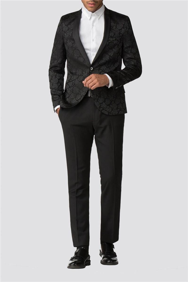 Hamilton Black Rose Jacquard Dinner Suit