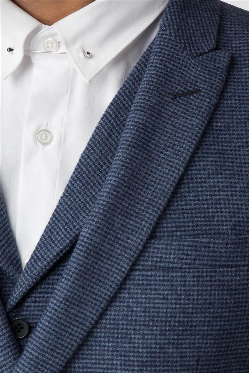 Lomond Navy Blue Puppytooth Blazer