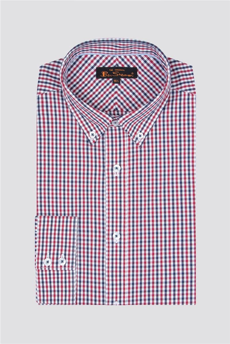 Long Sleeve Navy House Gingham Shirt