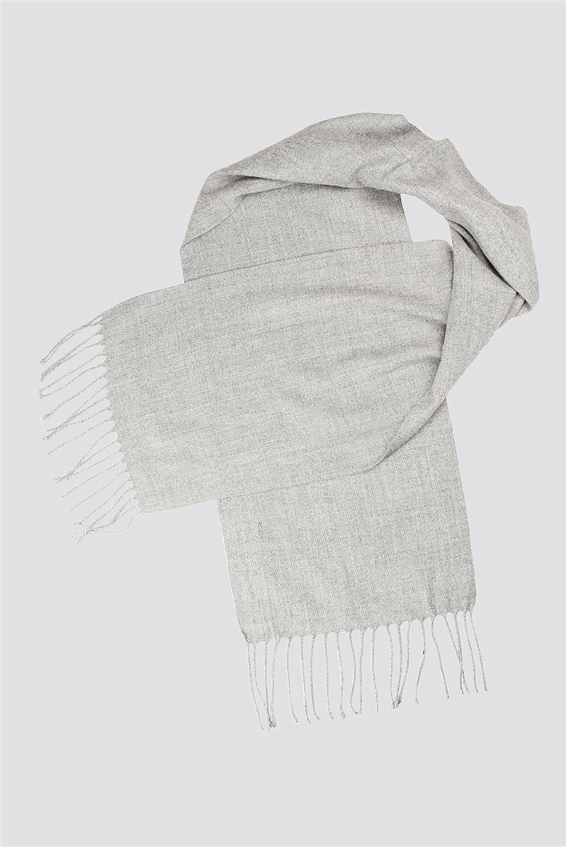 Scott & Taylor Light Grey Plain Scarf