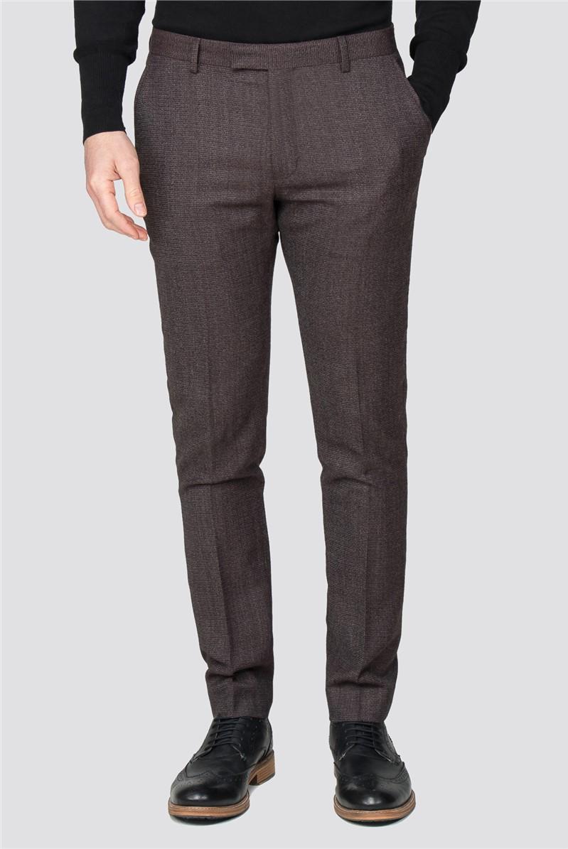 Rust Speckle Slim Fit Suit Trousers