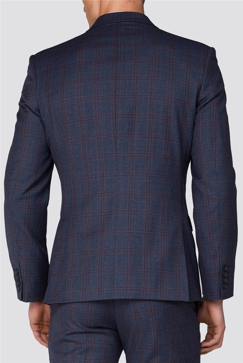 Airforce Pink Check Tailored Fit Suit