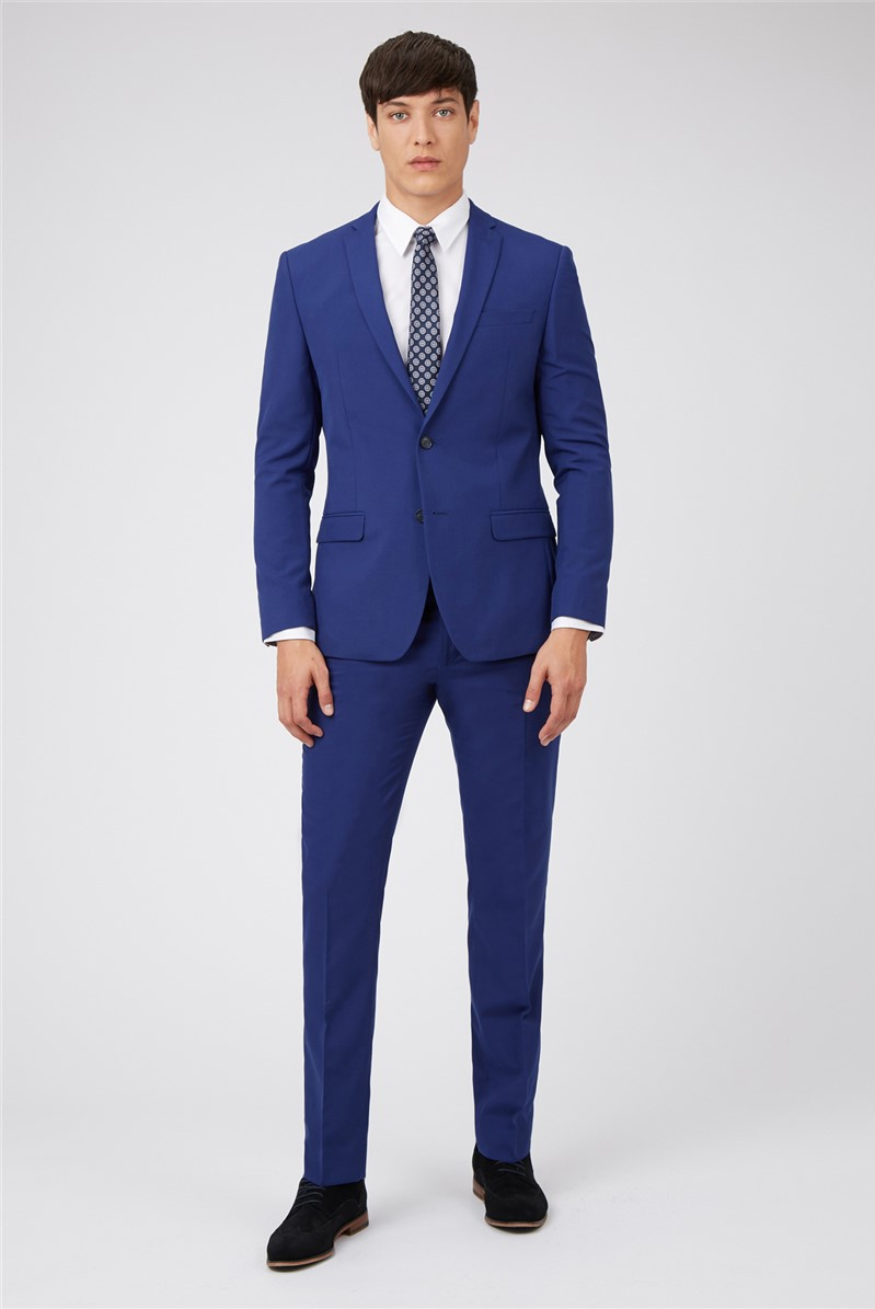 Cobalt Blue Slim Fit Prom Suit