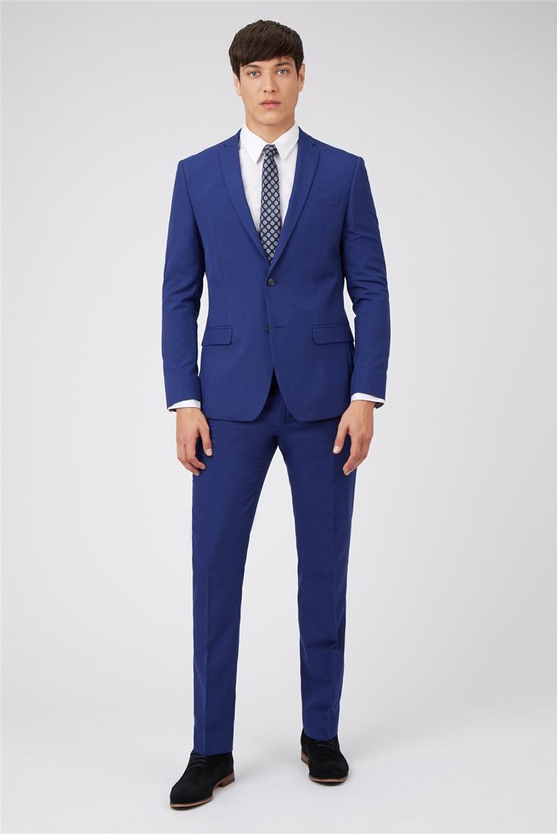 Cobalt Blue Slim Fit Suit Trousers